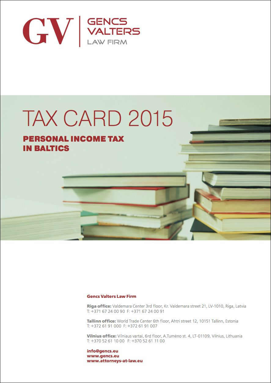 tax card 2015: personal income tax in Estonia, Latvia, Lithuania